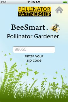 The BeeSmart Pollinator Garden app is a great way to research pollinator-friendly native plants for your area while plant shopping.   pollinator.org