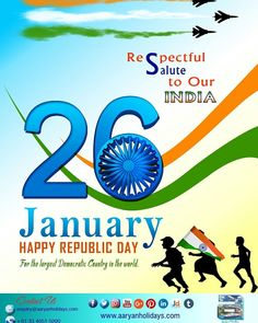 Aaryanites are proud to be Indians. Happy Republic Day.  We salute Indian Patriots..!!