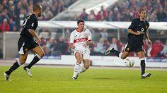VFB Stuttgart 2 Man Utd 1 in Oct 2003 at Gottlieb-Daimler Stadion. Imre Szabics opens the scoring in the Champions League, Group E game.