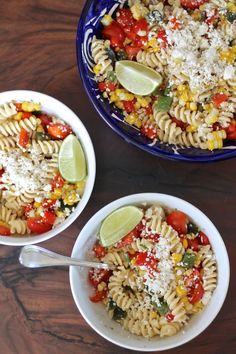 Mexican Corn Pasta Salad - a simple easy to prepare recipe for a summertime salad.