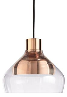 Shout out to Thomas Edison and Nikola Telsa!A subtly tinted glass shade rests on a metal pendant to create a simple, yet eye-catching interplay between two mate