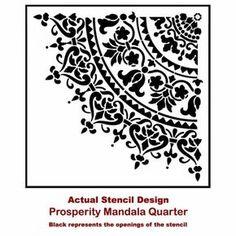 Mandala Stencil Prosperity Mandala Stencil by CuttingEdgeStencils