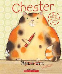 Chester, un chat égoïste et imbu de lui-même s'est injustement approprié l'histoire de souris de Mélanie Watt. Il préfère parler de lui-même; il se croit si intelligent! Une histoire à son sujet? Mélanie s'en charge, que ça plaise ou non à Chester!