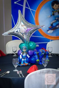 Table Centerpiece from a Miles from Tomorrowland Birthday Party via Kara's Party Ideas KarasPartyIdeas.com (24)