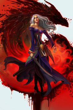 I never play as a blood mage, but I love how people draw them! Dragon Age Origins and Dragon Age 2. ~Blood mage by *anndr on deviantART