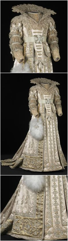 """A gorgeous dress for one lucky ducky of a princess. Seventeenth century style costume, worn by HRH Princess Wilhelmina of the Netherlands (1880-1962) as """"Amalia of Solms,"""" dated 1890. Via Trudie Rosa Carvalho (@TrudieRdC) on Twitter."""