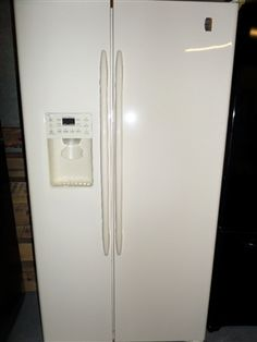 GE Bisque Side-by-Side Refrigerator only $499.88!