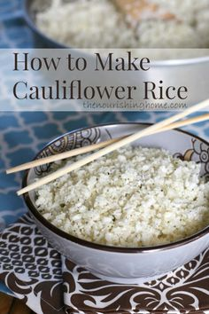 How to Make Cauliflower Rice - healthier grain-free option to rice.
