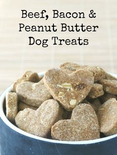 JACK deserves a little homemade love too! These beef, bacon & peanut butter dog treats are easy to make
