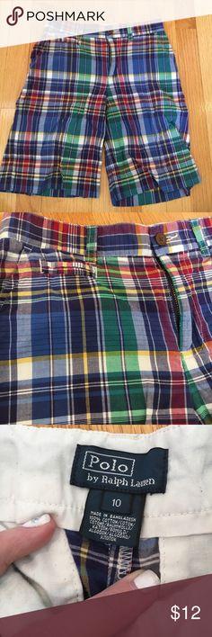 Polo Ralph Lauren plaid shorts 🦄Excellent condition Polo by Ralph Lauren Bottoms Shorts