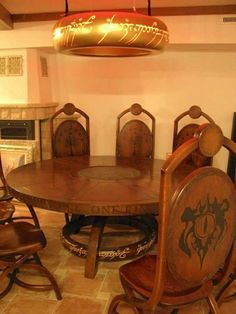 LOTR kitchen, wth (what the hobbit) haha -KL Tolkien, Lotr, Dining Set, Dining Table, Dining Decor, Dining Rooms, Ring Home, Into The West, Table Games