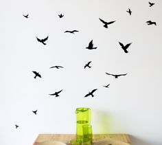 Arise Decals - Flock of Birds wall decal,(http://www.arisedecals.com/flock-of-birds-wall-decal/)