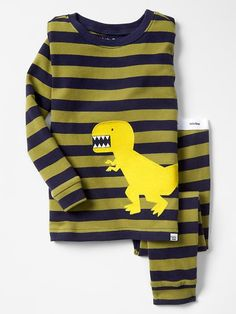 Dino stripe sleep set