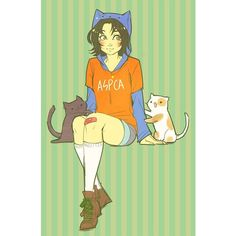 nepeta ❤ liked on Polyvore featuring homestuck, anime and hs