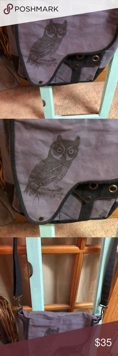 Cross body purse Purple with owl and long straps botique Bags Crossbody Bags