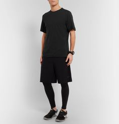 <B>Look to <a href='http://www.mrporter.com/mens/Designers/Nike_Training'>Nike Training</a> for sportswear that incorporates the latest in technology and design.</B> - This high-performance T-shirt features Dri-FIT technology to wick away sweat, keeping you cool and dry while active - The panelled design features a wool-blend front for soft comfort and a technical back panel with ventilating perforations<br><br&g...