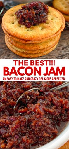 BACON JAM BACON JAM This Bacon Jam recipe is literally the best in the world. Regardless of what you use it for, topping burgers or simply adorning a cracker with it, your going to love it, ENJOY! Jelly Recipes, Bacon Recipes, Jam Recipes, Canning Recipes, Crockpot Recipes, Jalapeno Recipes, Burger Recipes, Holiday Recipes, Gourmet