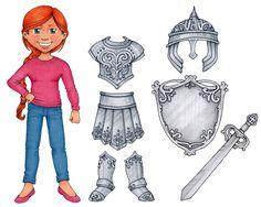 Armor of God Clip Art & Paper Doll set by SusanFitchDesign