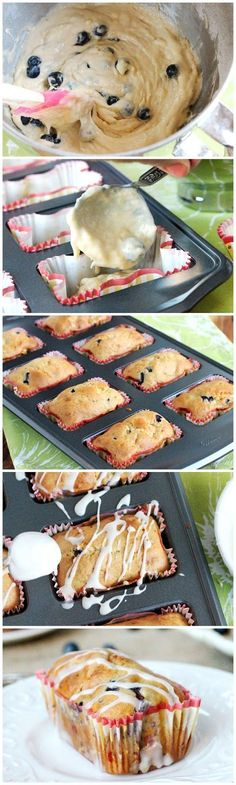 Mini Loaf Banana Blueberry Bread Recipe