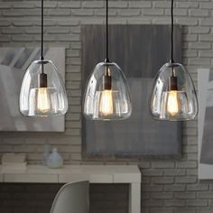 Duo Walled Pendant - 3-Light | west elm | dining room light