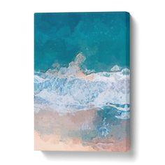 White Greece Beach CANVAS PRINT Wall Art Decor Giclee Sea Ocean *4 Sizes* CA37