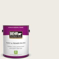 BEHR Premium Plus 1-gal. #pwn-51 Villa White Zero VOC Eggshell Enamel Interior Paint