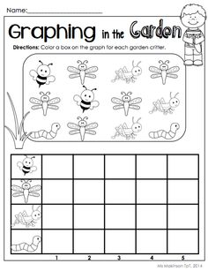$ May Printable Packet - Kindergarten Literacy and Math. Graphing in the Garden.