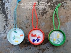 Father's Day, gift, handmade, milk bottle lid, kids, craft #fathersday #keychain #keyring #recyclecraft