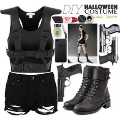 Lara Croft Angelina Jolie, Tomb Raider Angelina Jolie, Costume Lara Croft, Lara Croft Cosplay, Lara Croft Halloween Costume, Spy Outfit, Outfit Style, Diy Halloween Costumes, Costumes