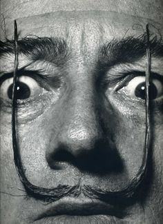 """The one and only Salvador Dali by Philippe Halsman. """"It is more often the good psychologist rather than the good photographer who makes good portraits. It is the sitter's mind that controls the portrait a photographer makes, not the photographer's skills with his camera or with direction."""" ~ Philippe Halsman"""