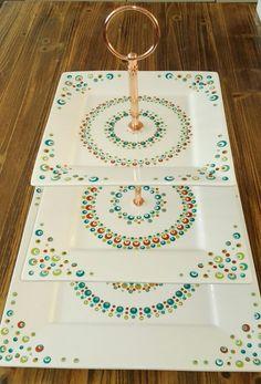 Etagere Madhubani Painting, Mandala Painting, Dot Painting, Pottery Painting, Ceramic Painting, Stone Painting, Mandala Dots, Mandala Design, Stippling Art