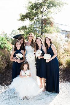 Blue bridesmaid dress idea; photo: Bonnie Sen Photography