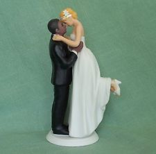 OOAK-True Romance Interracial Bride & Groom Figurine/Wedding Cake Top