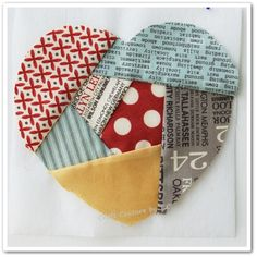 English Paper Piecing Templates Free | Paper-pieced Heart :)