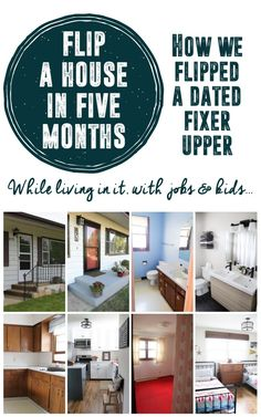 See how a young family completely transformed a dated fixer upper into a modern beauty... in only five months! www.BrightGreenDoor.com
