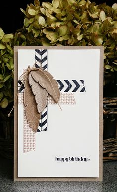 Made by Marie-Claire, Stampin'up, Four Feathers, Tape It, Itty Bitty Banners
