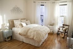 monochromatic color scheme for the bedroom