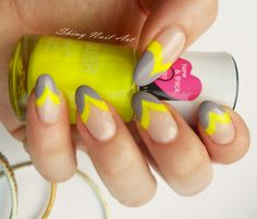 Shiny Nail Art: Keltaisia kaaria
