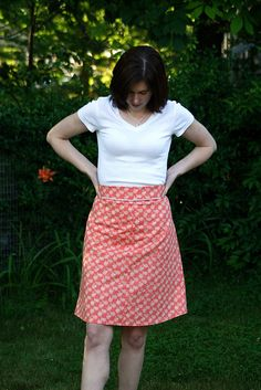 Colette Patterns Ginger Skirt by Lucinda of Sew Wrong