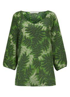 Thandi Print Silk Tunic in Amazon