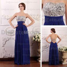 Marine blue prom dresses