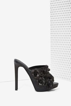 Jeffrey Campbell Robert's Leather Mule - Floral