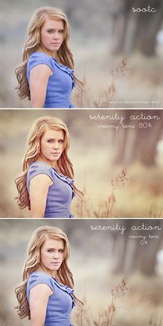 Serenity Action. Before and Afters.