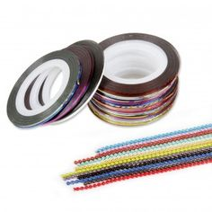 Nail Art Decoration Tape Sticker Strips Wheel+Bead Chains Set $8.50