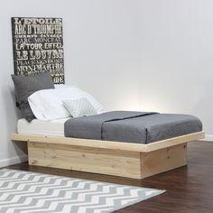 Platform twin bed frame twin xl pine wood platform bed for Gothic cabinet craft platform bed