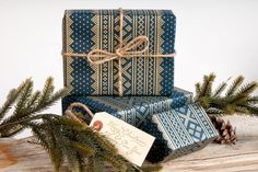 Winter Sweater Christmas Wrapping Paper /  by NormansPrintery