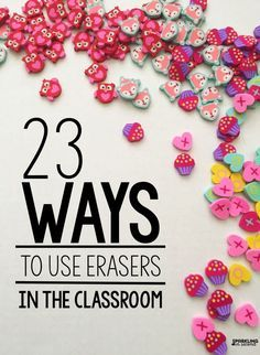 23 educational ideas for Target Dollar Spot erasers. Ideas on how to use them as manipulatives in math, writing, reading, and language in the classroom. Kindergarten Math, School Classroom, Classroom Activities, Teaching Math, Classroom Organization, Teaching Ideas, Classroom Ideas, Classroom Management, Future Classroom