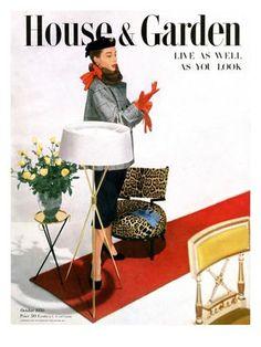 House & Garden Cover - October 1950 Regular Giclee Print
