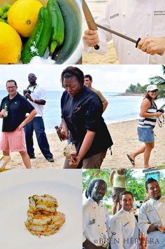 St. Croix Food & Wine Experience with chefs Leslie Gumbs, Michael Ferraro & Roberto Treviño.