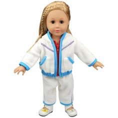 Cute Baby Doll Clothes Thick White Fleece Hoodie Pants Outfits Jacket Suit for 14 - 16 Inches American Girl / Boy Dolls. Package: 1*Dress. Materials:Made of Thick White Fleece Fabric,Easy to Put On. Christmas Gift and Birthday Gift for Children, Especially Little Girls. Fits for 14 - 16 Inches(35-40cm) Baby Doll(including American Girl Dolls, Madame Alexander My Life As Doll, etc. Suitable for Parents to Do Some Parenting Practice and Helpful for Children to Develop a Good Habit of...